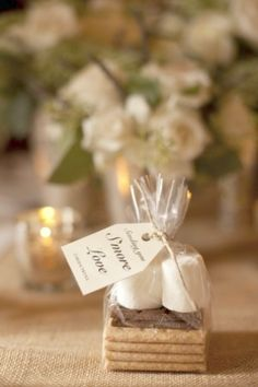 42 Wedding Favors Your Guests Will Actually Want DIY wedding planner with di wedding ideas and tips including DIY wedding tutorials and how to instructions. Everything a DIY bride needs to have a fabulous wedding on a budget! Winter Wedding Favors, Unique Wedding Favors, Fall Wedding, Our Wedding, Dream Wedding, Perfect Wedding, Wedding Reception, Trendy Wedding, Smore Wedding Favors