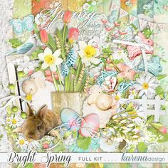 Bright Spring Kit by karena design Bright Spring, Spring Collection, Kit, Painting, Design, Products, Painting Art, Paintings, Paint