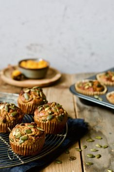 Muffins, Foods With Gluten, Culinary Arts, Mini Cupcakes, Healthy Recipes, Healthy Food, Catering, Gluten Free, Vegetarian
