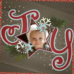 , Welcome to the Scraps N Pieces digital scrapbooking community. Feel free to browse our store, participate in our challenges, and post your scrapbook layouts in our gallery. Baby Girl Scrapbook, Kids Scrapbook, Scrapbook Paper Crafts, Scrapbook Albums, Scrapbook Cards, Baby Scrapbook Pages, Christmas Scrapbook Layouts, Christmas Layout, Christmas Star