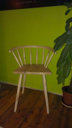 Green woodwork chair