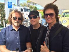 With my lifelong mate Geezer Butler and pal Marty O'Brian.