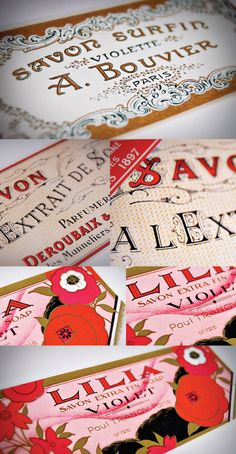 flowery vintage packaging goodness