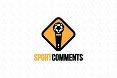 Sport Comments - $299 (negotiable) http://www.stronglogos.com/product/sport-comments #logo #design #sale #sport #soccer #football #commentary