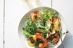 Harissa Shrimp And Summer Vegetable Sauté