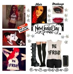 """""""Ash Costello Look <3"""" by beautykillerxoxo ❤ liked on Polyvore featuring Love Moschino, Demonia, castro, Kat Von D and Valentino"""
