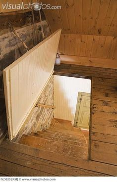 Trap door to main bedroom might be an option to solve dipping floor and getting large bedroom furniture upstairs and through narrow doorway.