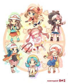#Pokemon i love all the girl forms
