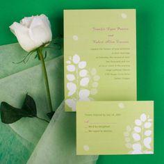 Pale Maple Leaves Wedding Invitation IWI085 Wedding Invitations