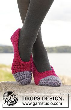 Ravelry: 149-25 Piqué - Slippers in Eskimo pattern by DROPS design