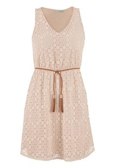 lace dress with faux