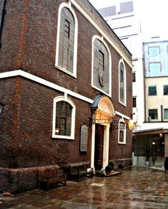 Bevis Marks Synagogue, London. By Joseph Avis, 1700 (completed 1701), a Quaker designer who gave his fee to the congregation. The synagogue began with a petition to Cromwell in 1656 by Rabbi Menasseh Ben Israel of Holland, who was living in London. For the first time since the expulsion of 1290 under Edward !, Jews were permitted to live and worship openly in England.