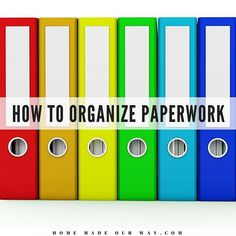 Learn to declutter, sort, organize, and maintain all your documents using a variety of systems that work for you. Organizing Important Papers, Organizing Paperwork, Home Office Organization, Paperwork Organization, Organizing Ideas, Student Planner, Financial Planner, Planners, Storage Hacks