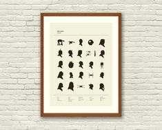 The perfect gift for your geek: a Star Wars ALPHABET print