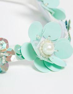 Image 2 of ASOS Pastel Pop Cluster Ribbon Headband