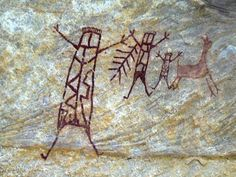 Rock art and artifacts recently found in a cave at Serra da Capivara national park in Brazil's northeastern Piaui state, some dating back 30,000 years.