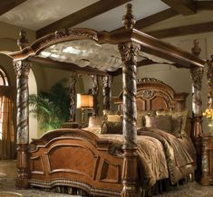 Adventurous bed. I would definitely feel like a queen in this.
