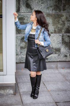 Valentina and Aveline: The Leather Wardrobe Staple
