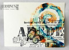 by Hermine Koster-love the pop of color against the black and white stamped images