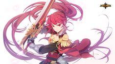 엘리시스 : 네이버 블로그 Seven Knight, Red Knight, Anime Warrior, Fantasy Warrior, Anime Fantasy, Fantasy Girl, Anime Red Hair, Anime Pirate, Game Art