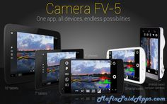 Camera FV-5 v3.21 APK   Camera FV-5is a professional camera application for mobile devices that puts DSLR-like manual controls in your fingertips. Tailored to enthusiast and professional photographers with this camera application you can capture the best raw photographs so that you can post-process them later and get stunning results. The only limit is your imagination and creativity!  Major features:   All photographic parameters are adjustable and always at hand: exposure compensation ISO…