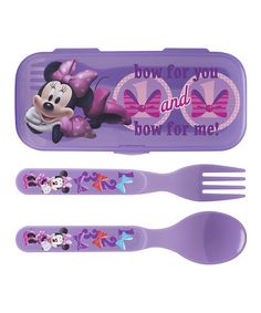 This Minnie Mouse GoPak Flatware Set by Minnie Mouse is perfect! #zulilyfinds