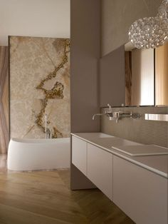 contemporary glamour for the bathroom - gorgeous shades of taupe