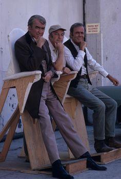 Jimmy Stewart,Gene Kelly, and Henry Fonda