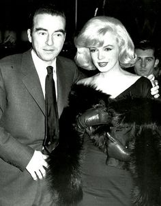 Marilynand Montgomery Clift  at the premiere of The Misfits;1961