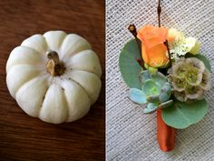 Ignore the pumpkin - I like the little round green thing(s) on the right side of the boutonniere - anyone know what they're called?!