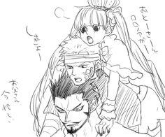 "Zoro, Mihawk, Perona. My adorable children. zoros-broken-sword-yubashiri: ""シッケアールかわいい!!! """