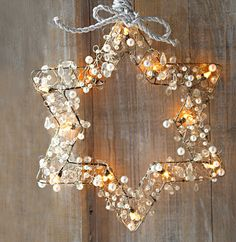 More Christmas inspiration? here you go...  Try with beads, shiny buttons, glass prisms, etc... Found on www.lovenordic.com