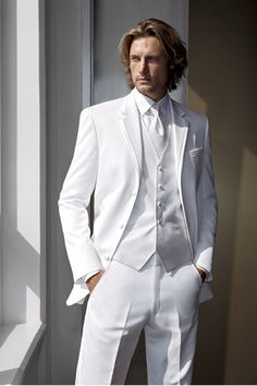 white tux for wedding -