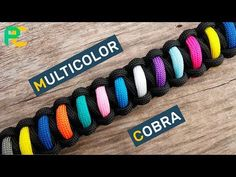 How to make a Rigid King Cobra Paracord Buckle Bracelet - YouTube
