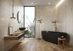 Galeria łazienek - zdjęcia, gotowe projekty - Domni.pl Bathtub, Art Deco, Bathroom, Home, Interiors, Standing Bath, Washroom, Bathtubs, Bath Tube