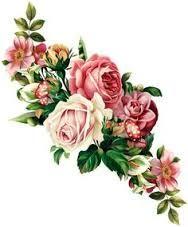 Bildergebnis für rosen tattoo vintage - New Ideas Art Floral, Floral Vintage, Vintage Diy, Vintage Flowers, Vintage Prints, Vintage Images, Floral Theme, Rosen Tattoo Vintage, Vintage Rosen