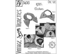 1930's Collars (One size) PDF sewing pattern [VSV 34013]