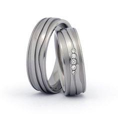 Titanringe Hochzeitsringe Eheringe aus Titan Trauringe Außergewöhnliche Ringe Brillanten