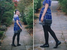 heyprettything.com: Lace Dress and Patent Loafers