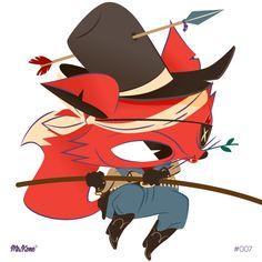 #MrFox 7/#365Rounds #MrKone #Illustration #CharacterDesign #AdobeIlustrator #Wacom