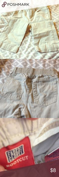 Girls khakis Fades glory, girls khakis, stretch waist in the back, zip and button up, tiny wear at the bottom but otherwise perfect condition. Faded Glory Bottoms Jeans
