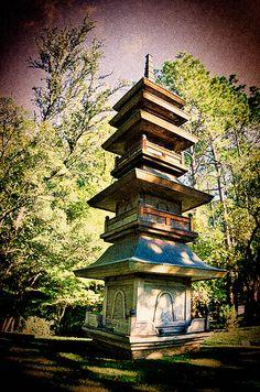 Japanese Garden, inside Fort Worth Botanic Garden