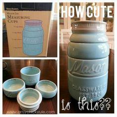 My Favorite Things - Blue Mason Jar Measuring Cups - artsychicksrule.com #thrifty #homedecor #budgetdecorating #worldmarket