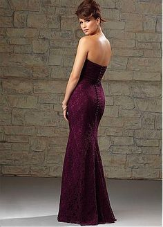 Buy discount Chic Lace Sweetheart Neckline Floor-length Sheath Bridesmaid Dress at Dressilyme.com