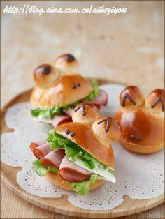 青蛙火腿堡(烘培菜谱)