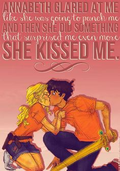 Percy Jackson and Annabeth Chase.<333 I just trad this line today in my book!!!! ADORABLENESSSSS!!!!!
