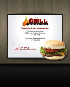The Grill Burger Kitchen - 2 locations in KW - Yummy burgers & they make an excellent caesar salad.