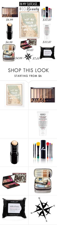 """""""$10 Beauty Finds: For Your Suitcase"""" by saifai ❤ liked on Polyvore featuring beauty, Farrow & Ball, Kiehl's, Maybelline, Shany, Inglot, Dot & Bo and 10dollarbeauty"""