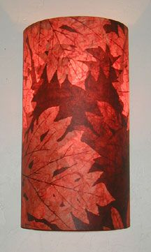 Handmade Paper Wall Sconces from AmbientArt.com