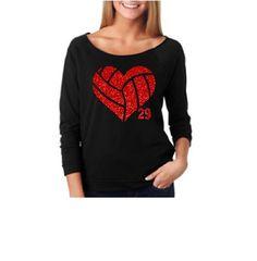 Volleyball Mom. Volleyball Mom Sweatshirt..Volleyball Glitter Heart. Off Shoulder Shirt. Vollebyall Mom Sweatshirt. Volleyball. VBall Mom by TNTAPPARELNMORE on Etsy